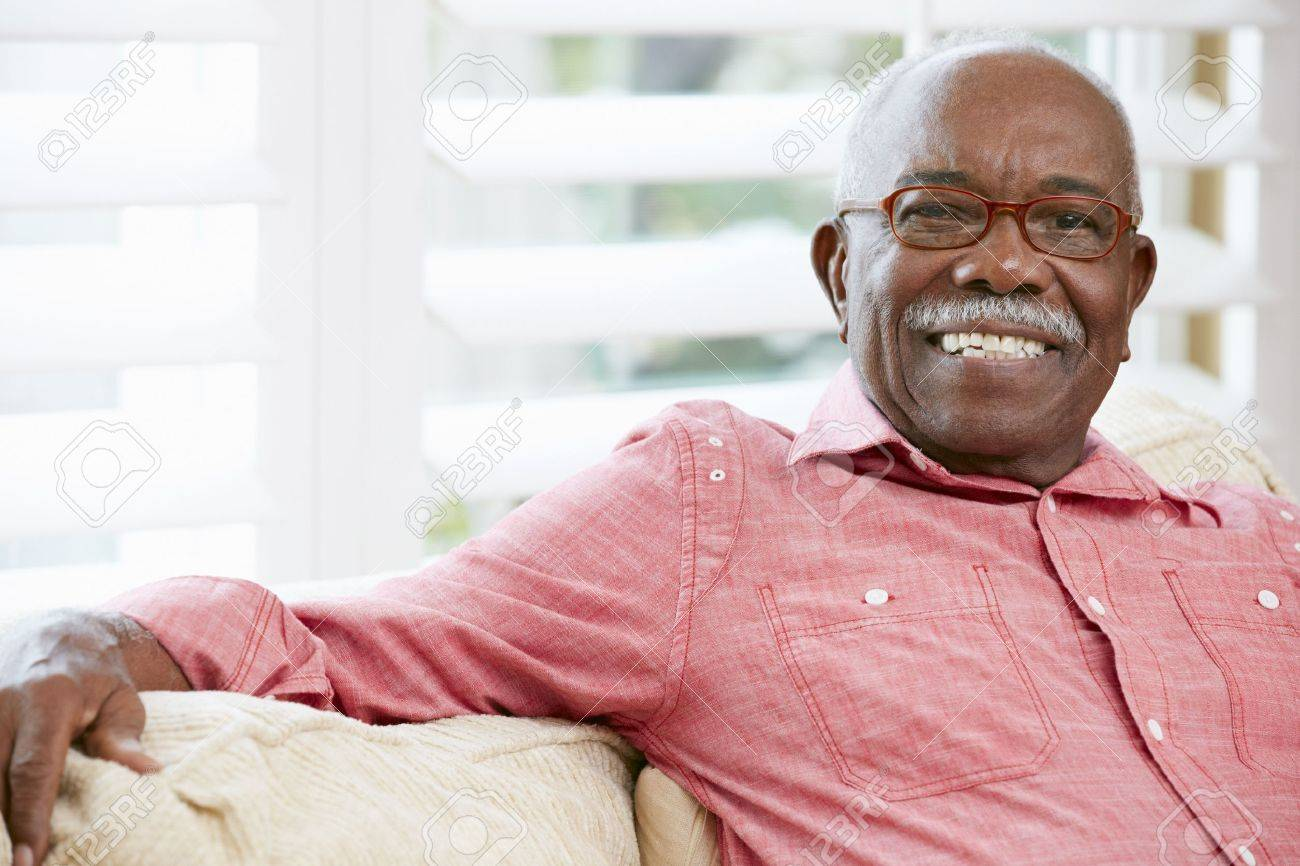 Portrait Of Happy Senior Man At Home Stock Photo - 18735679