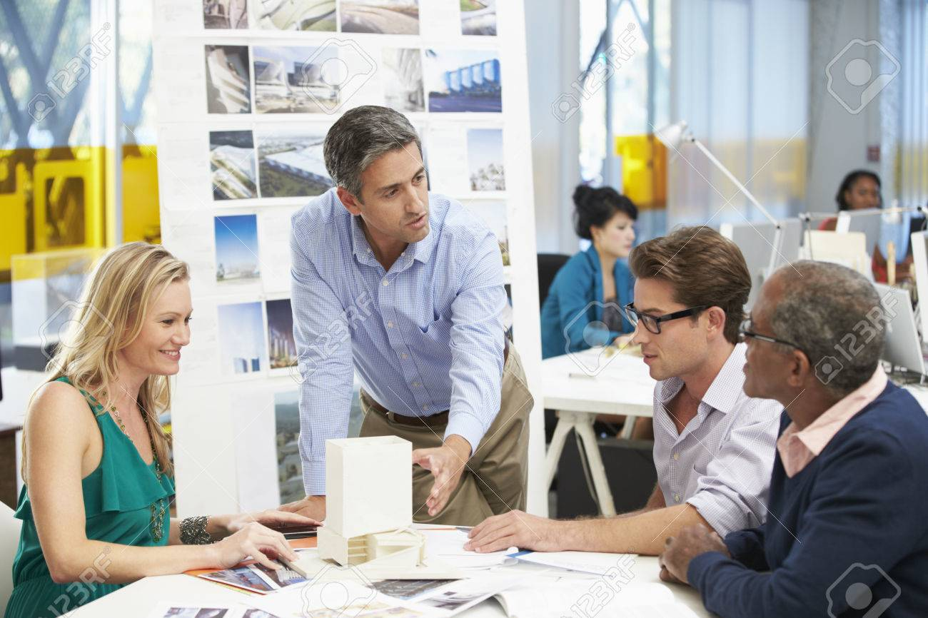 Meeting In Architects Office Stock Photo - 23128806