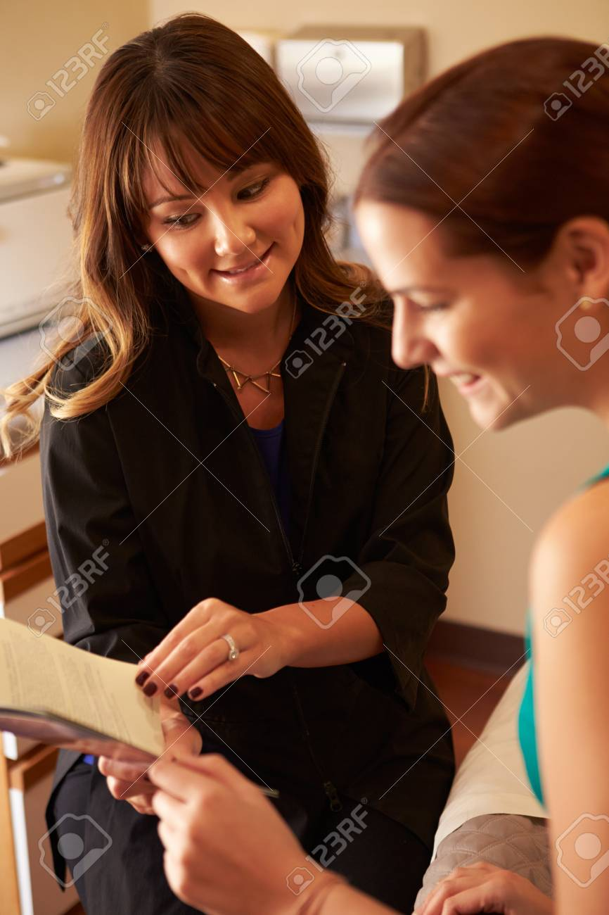 Beautician reading