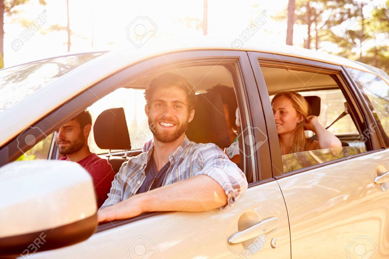 Group Of Friends In Car On Road Trip Together Stock Photo Picture And Royalty Free Image Image 41392619