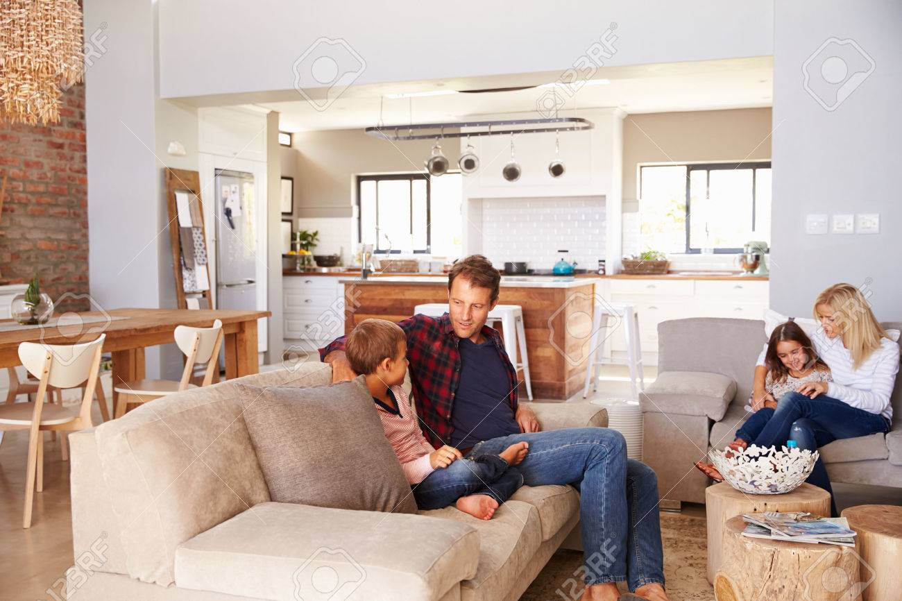 Family Spending Time Together At Home Stock Photo Picture And