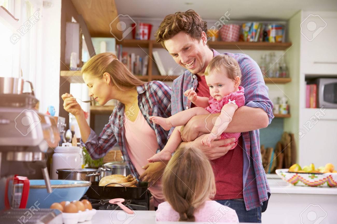 Family Kitchen Kitchen Family Stock Photos Images Royalty Free Kitchen Family