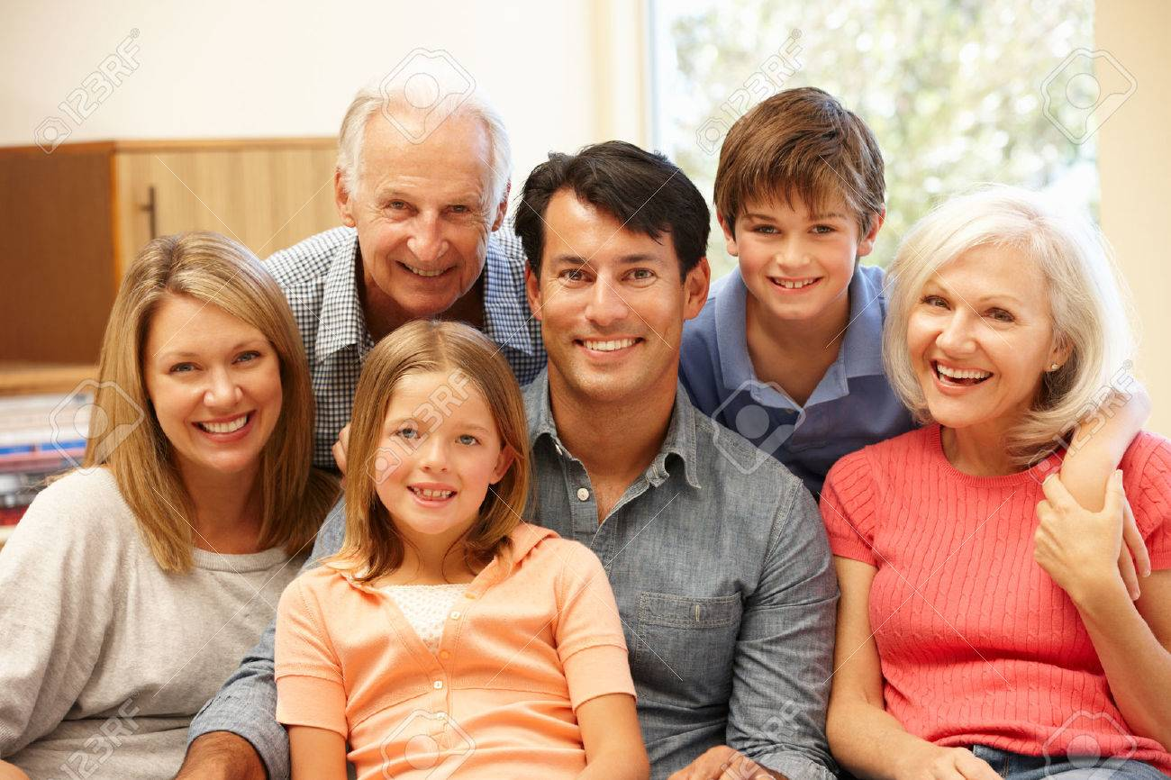 Multi-generation family portrait Stock Photo - 42109357