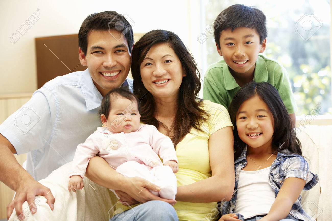 Asian family with baby stock photo 42109066