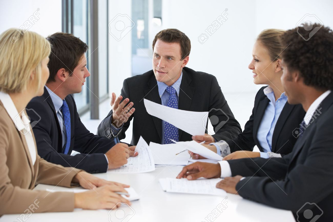 Office meeting pictures Stock Group Of Business People Having Meeting In Office Stock Photo 42253168 123rfcom Group Of Business People Having Meeting In Office Stock Photo
