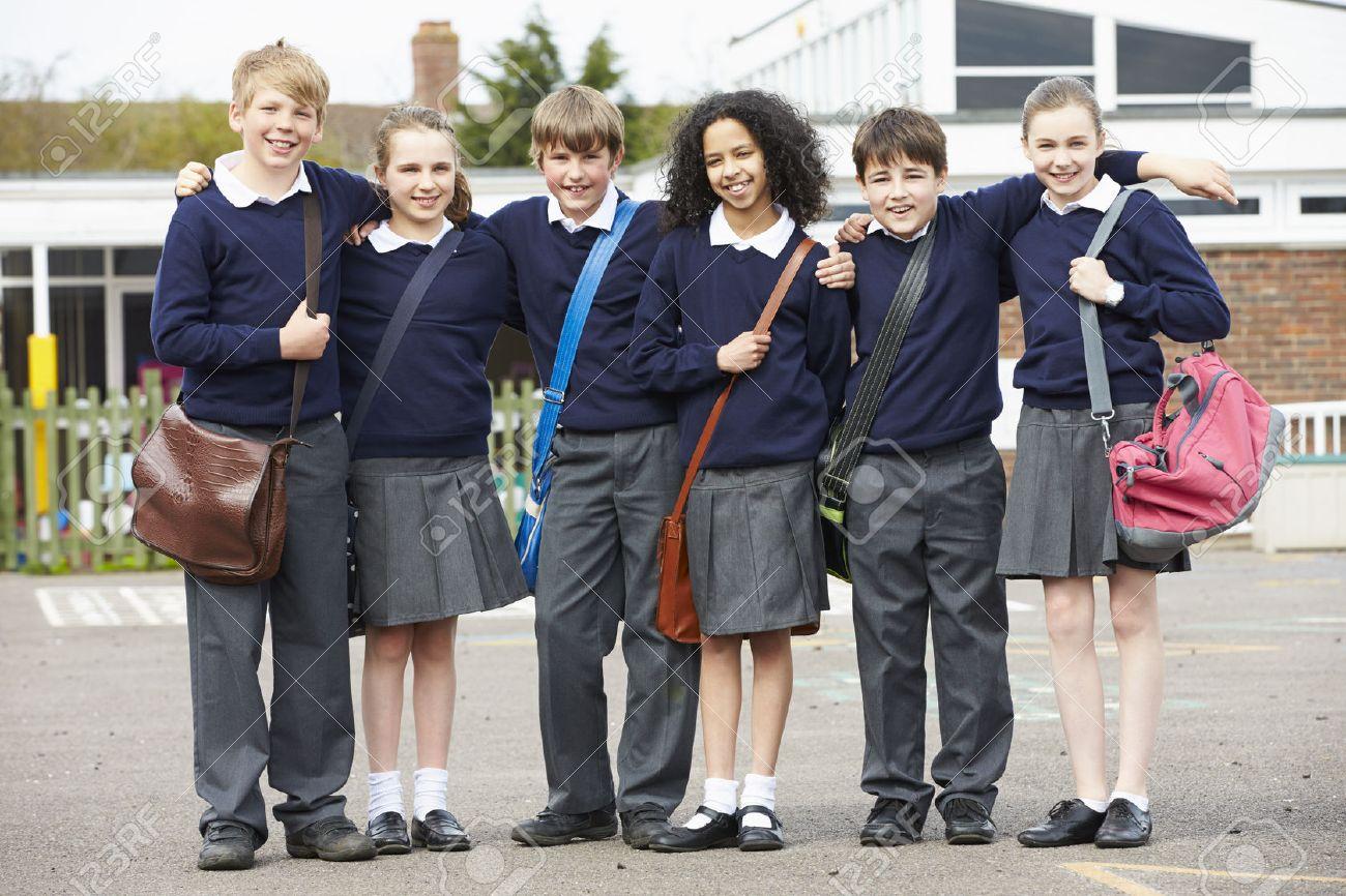 Portrait Of Elementary School Pupils In Playground Stock Photo - 42401805