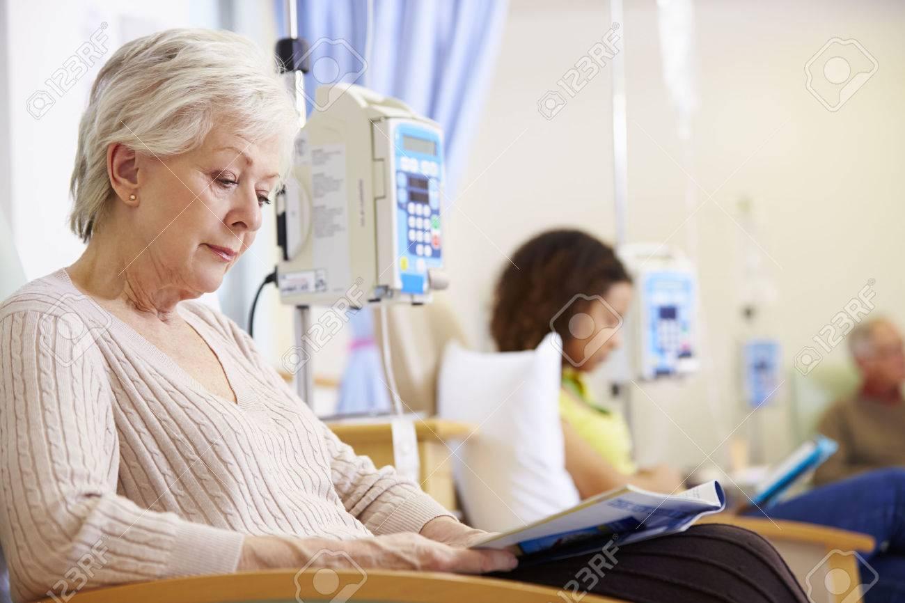 Senior Woman Undergoing Chemotherapy In Hospital Stock Photo - 42402939