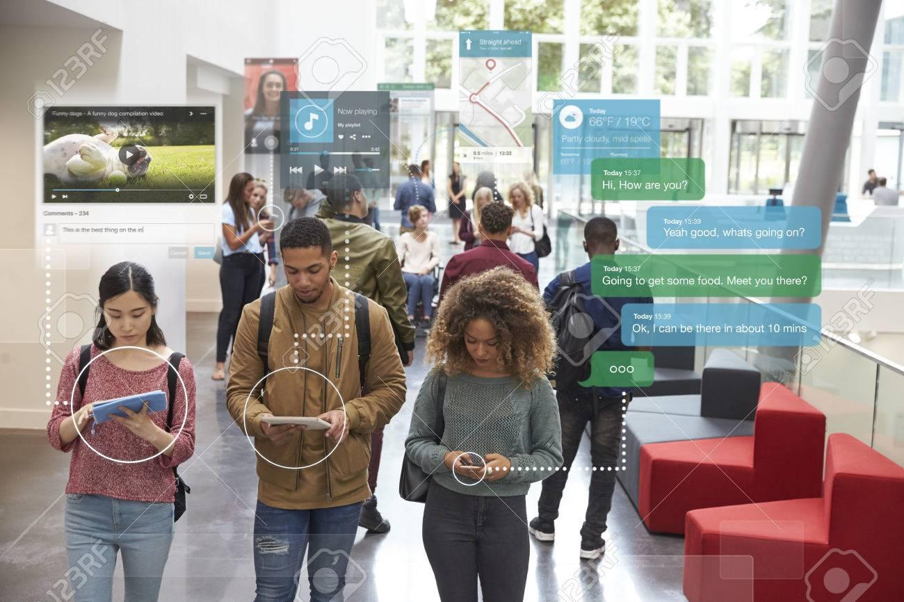 Millennials Using Social Media - 71235539
