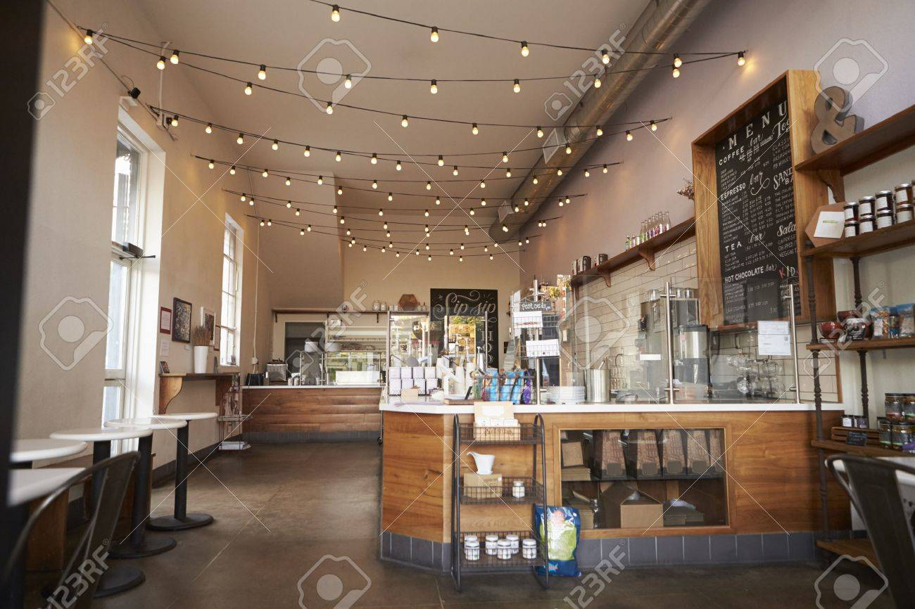 Empty cafe or bar interior, daytime Stock Photo - 71214453