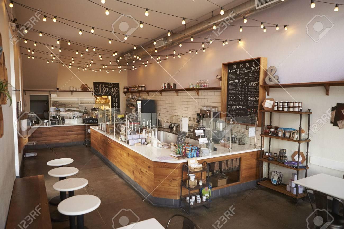 Empty cafe or bar interior, daytime Stock Photo - 71214678