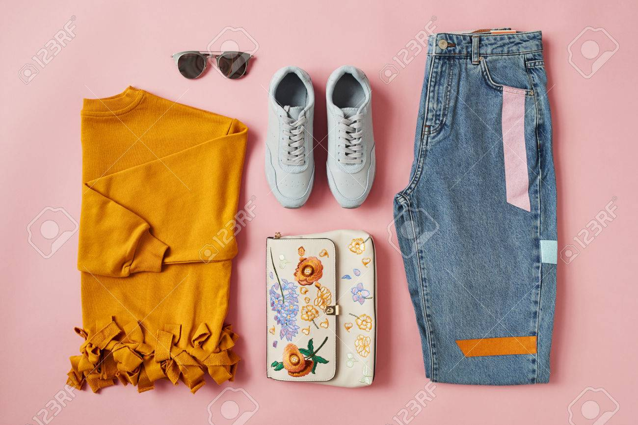 Flat Lay Shot Of Female Autumn Clothing And Accessories - 85441869