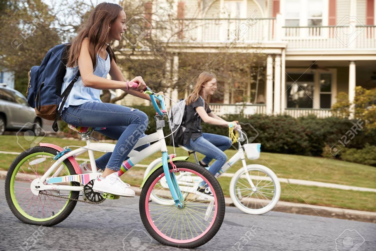 Teen Girls Riding