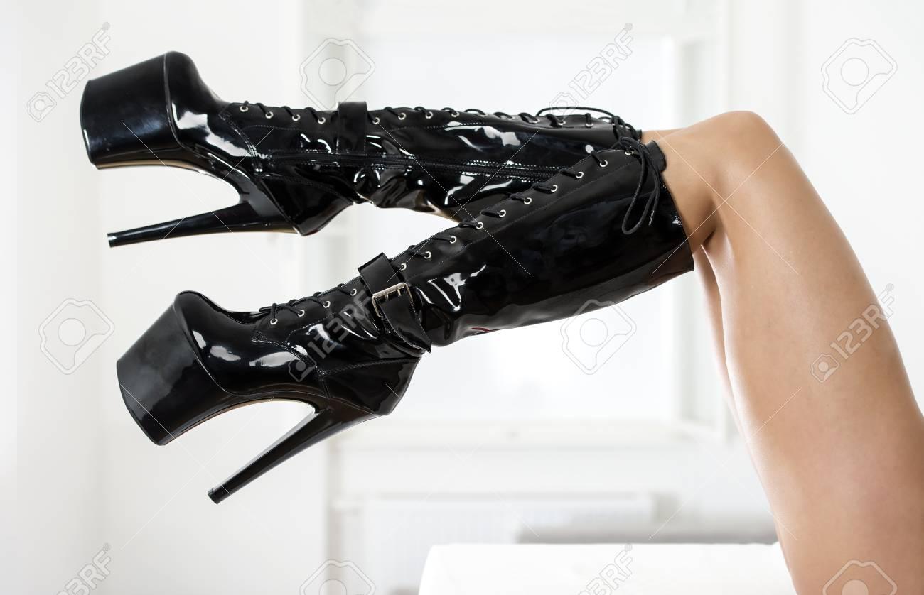 Boots black fetish