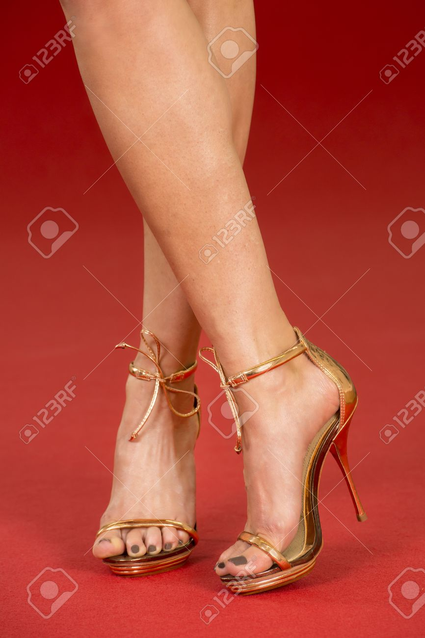Heel high sexy shoes wear woman