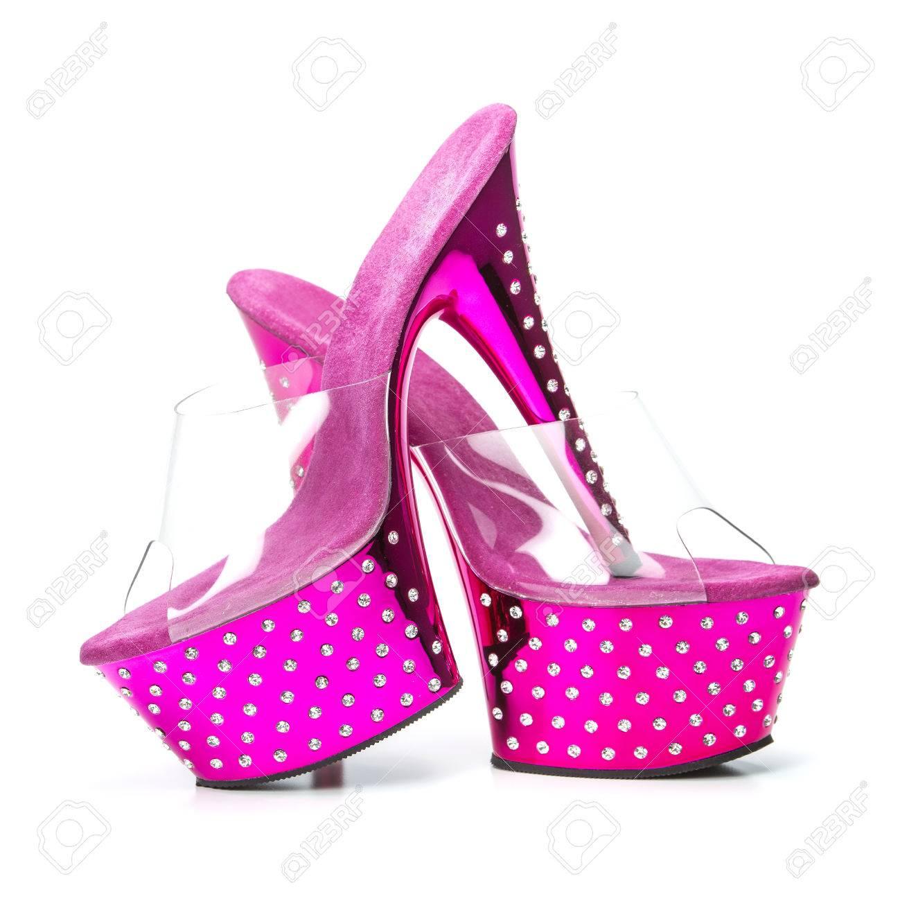 Plataforma Con Rosa Tacones De Zapatos En Suela Estilo Fetiche Aguja Altos zcq4wFUzS