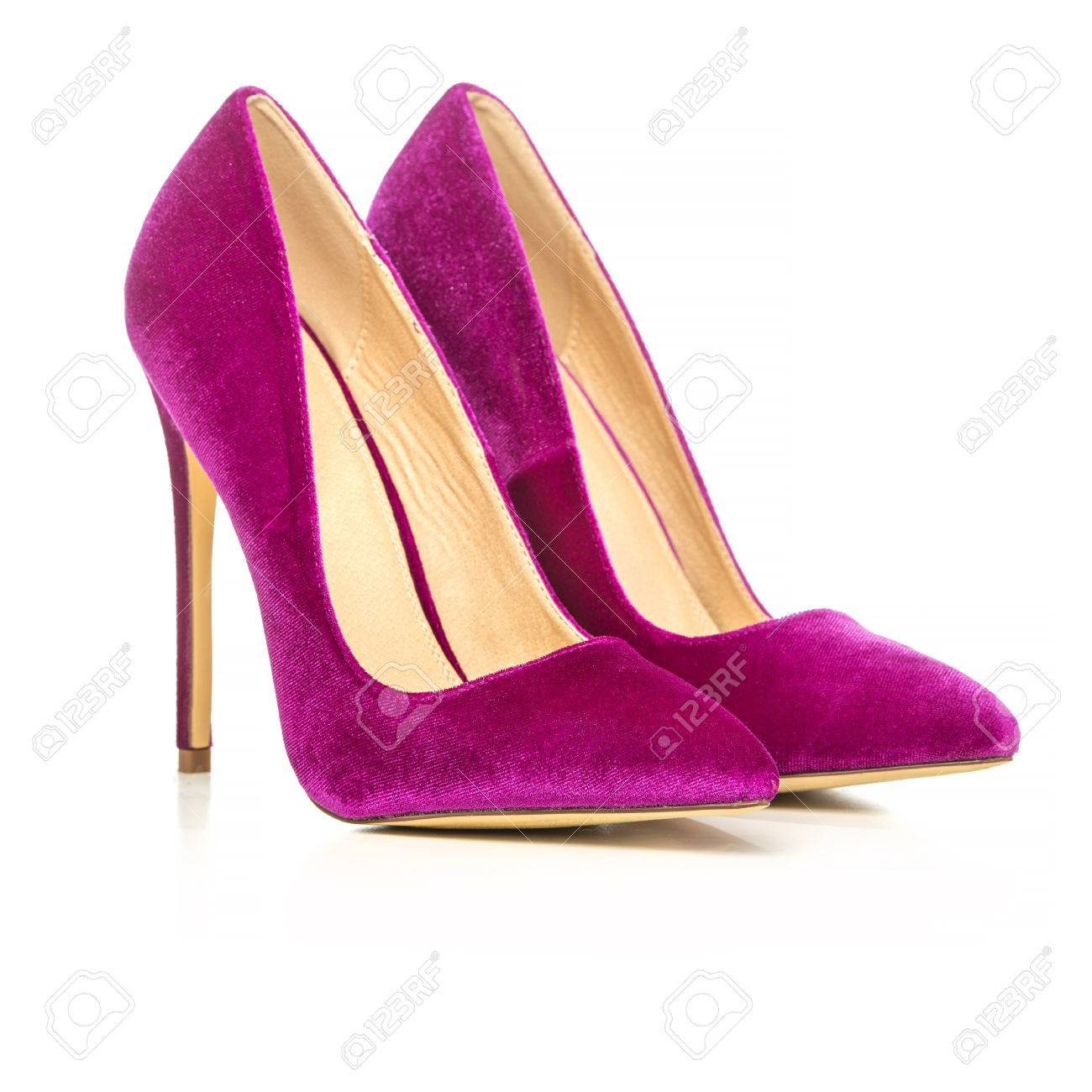 b31ebea09992 Classic stiletto high heels shoes in pink suede velvet. PLEASE NOTE  this is