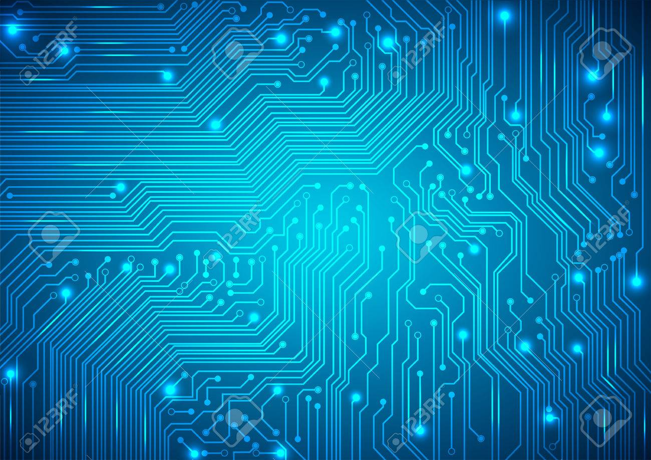 circuit board vector blue background - 40189428