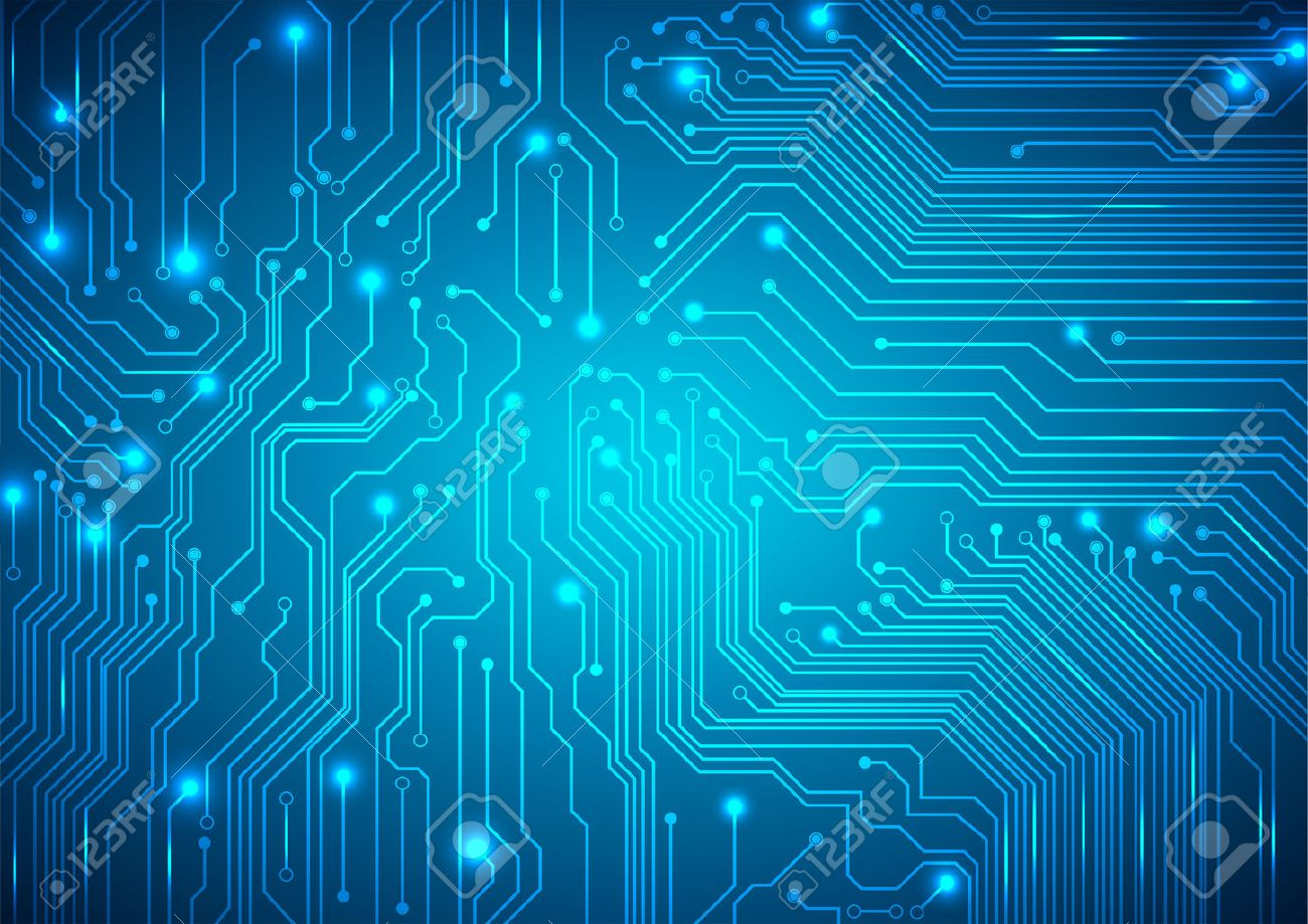Technological Vector Background With A Circuit Board Texture Royalty ...