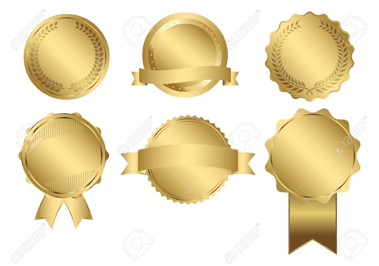 Badges of Gold Seal Set - 42716453