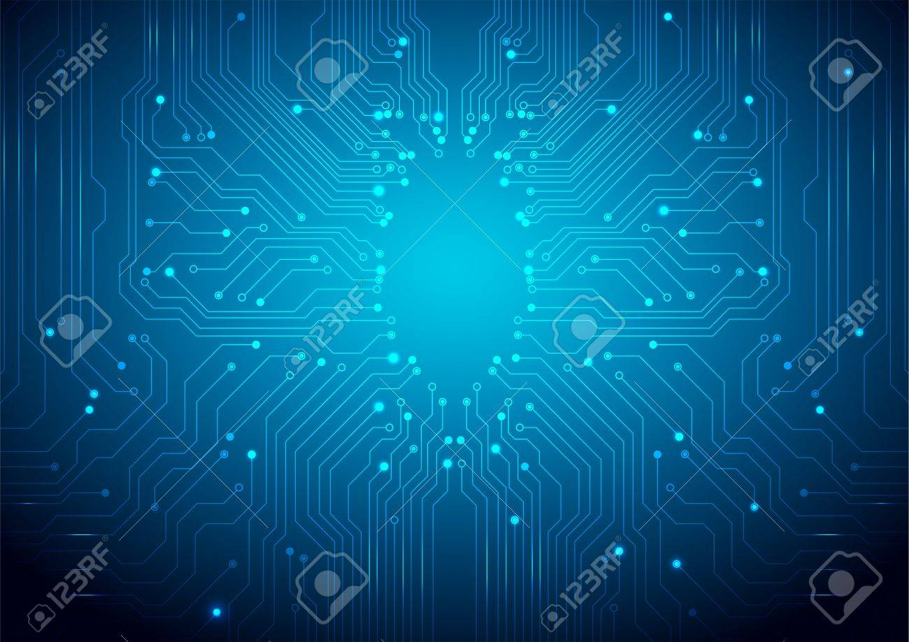 Technological Background With A Circuit Board Texture Royalty Free ...