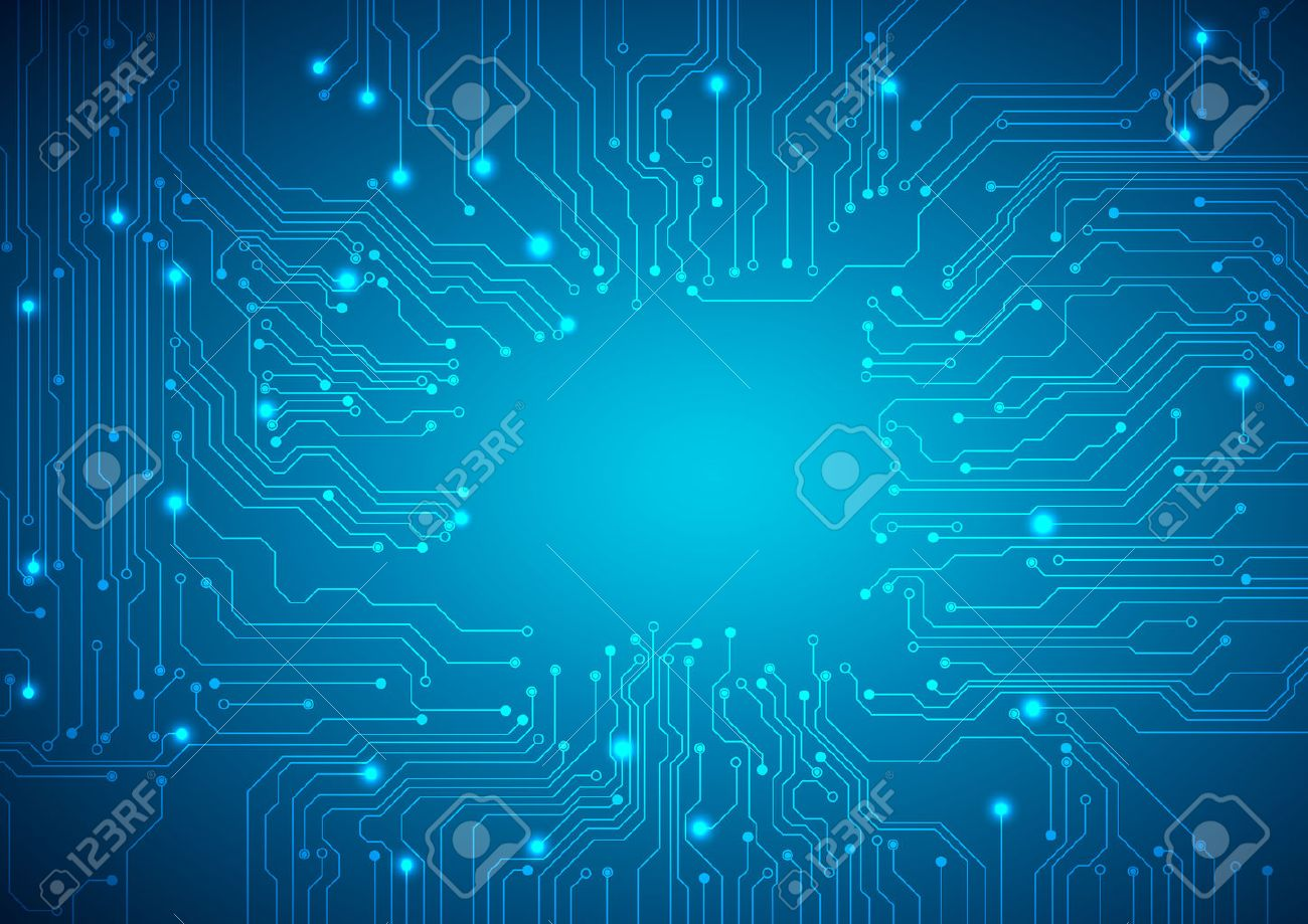 Technological vector background with a circuit board texture - 45872777