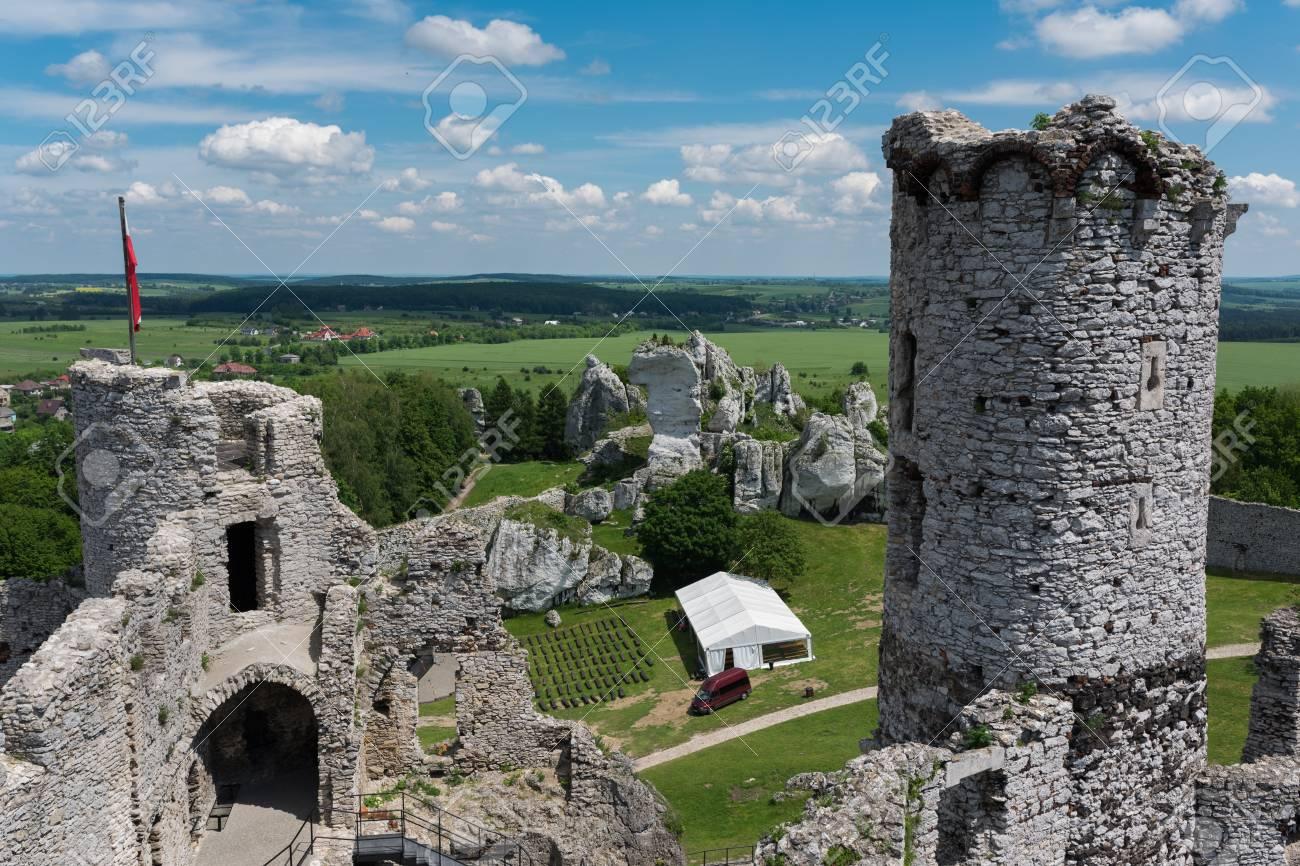 Photography of ogrodzieniec castle ruins during sunny fall day photography of ogrodzieniec castle ruins during sunny fall day poland europe stock photo 99433289 publicscrutiny Gallery