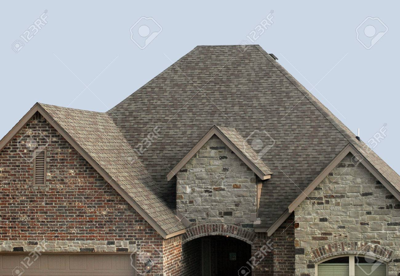 House with a new shingle roof and roof vent Stock Photo   24597534. House With A New Shingle Roof And Roof Vent Stock Photo  Picture