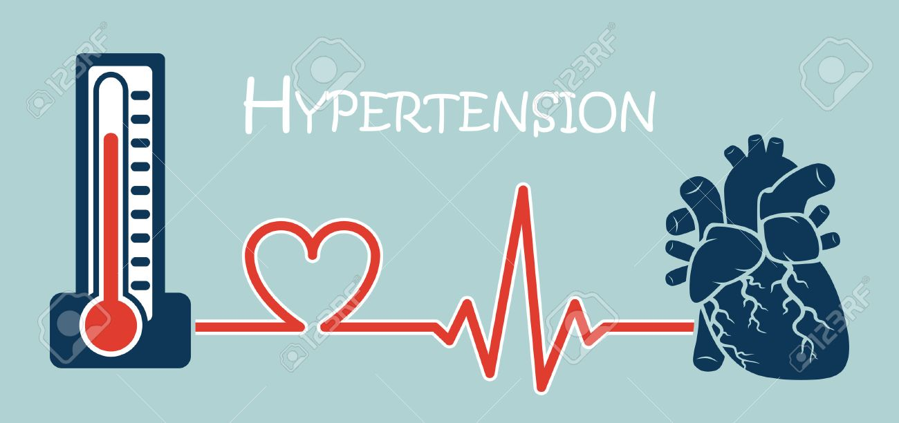 Essential or Primary Hypertension ( high blood pressure )( sphygmomanometer connect to heart ) ( flat design ) ( NCD concept ( Non communicable diseases )) - 51250378