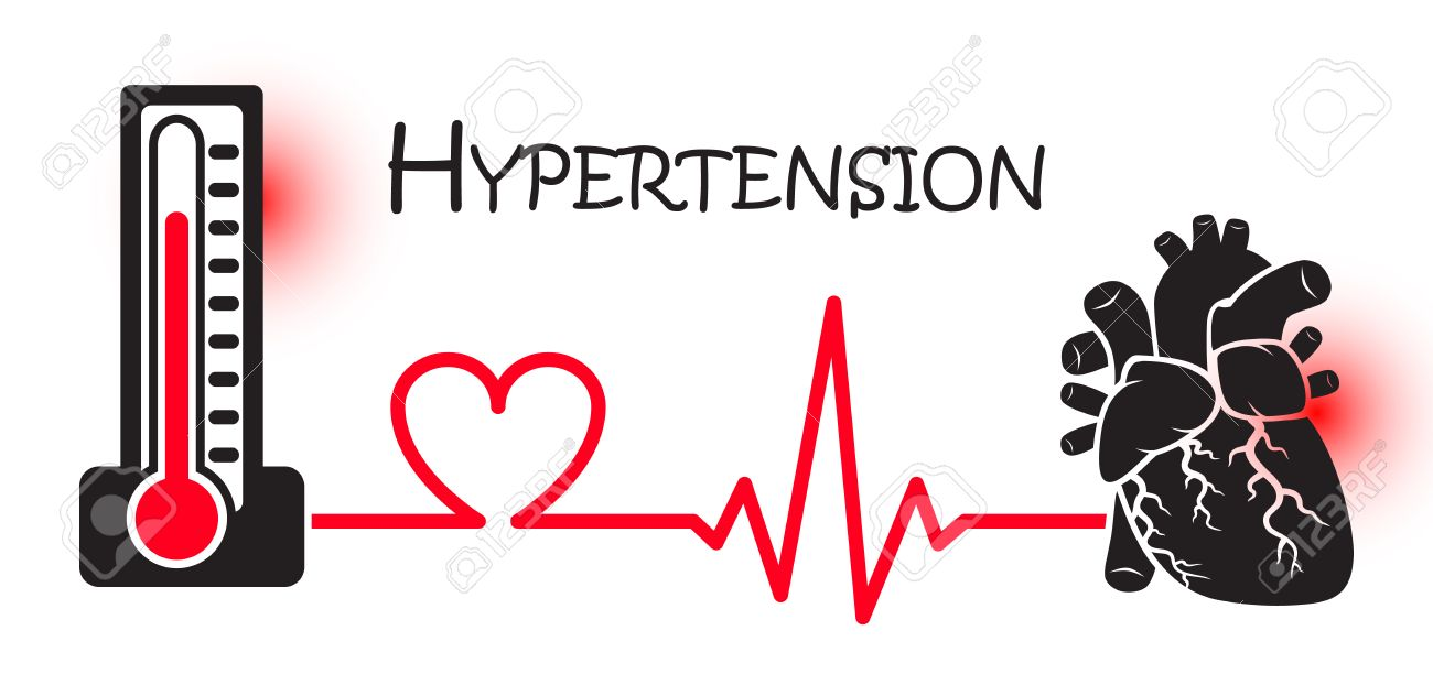 Essential or Primary Hypertension ( high blood pressure )( sphygmomanometer connect to heart ) ( flat design ) ( NCD concept ( Non communicable diseases )) ( Heart attack ) - 51250380
