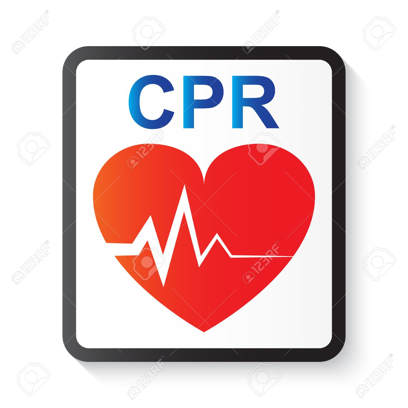 CPR ( cardiopulmonary resuscitation ) , heart and ECG ( Electrocardiogram ) ( image for basic life support and advanced cardiac life support ) - 55067907