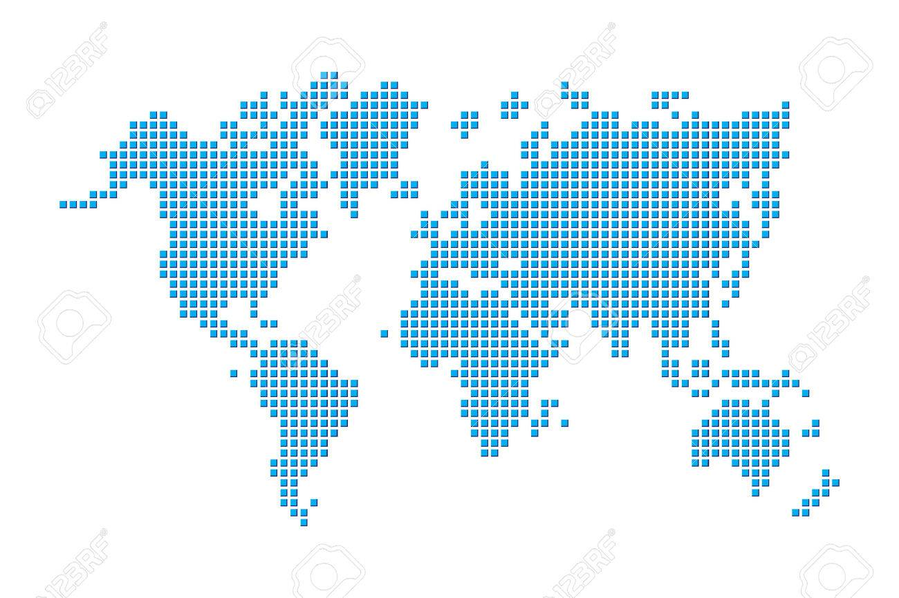 World map pixel style royalty free cliparts vectors and stock world map pixel style stock vector 56750434 gumiabroncs Choice Image