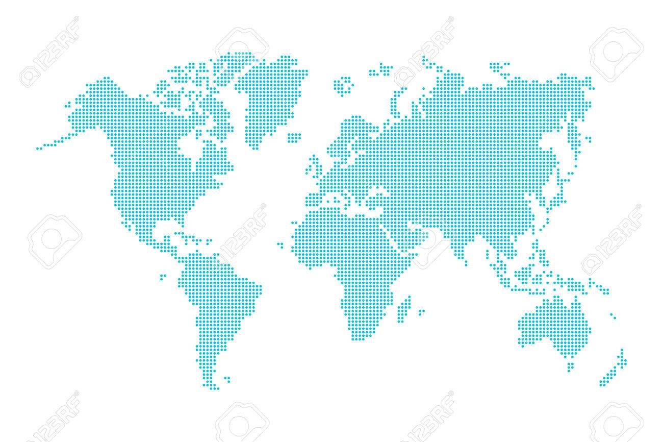 World map ( dotted style ) - 56750394