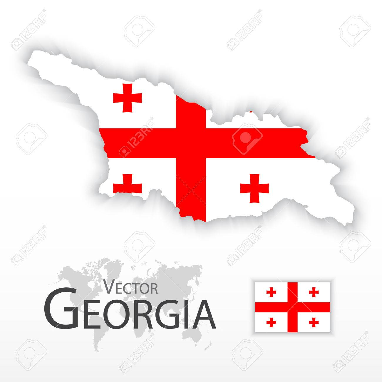 Map Republic Of Georgia.Georgia Republic Of Georgia Flag And Map Transportation