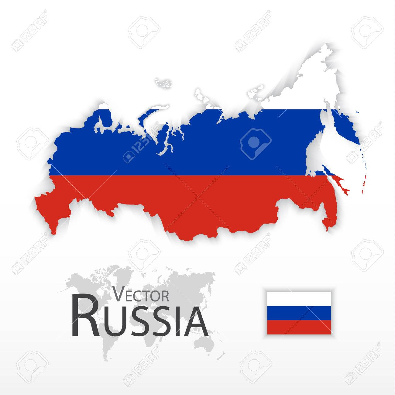 Russia ( The Russian Federation ) ( Flag And Map ) ( Transportation ...