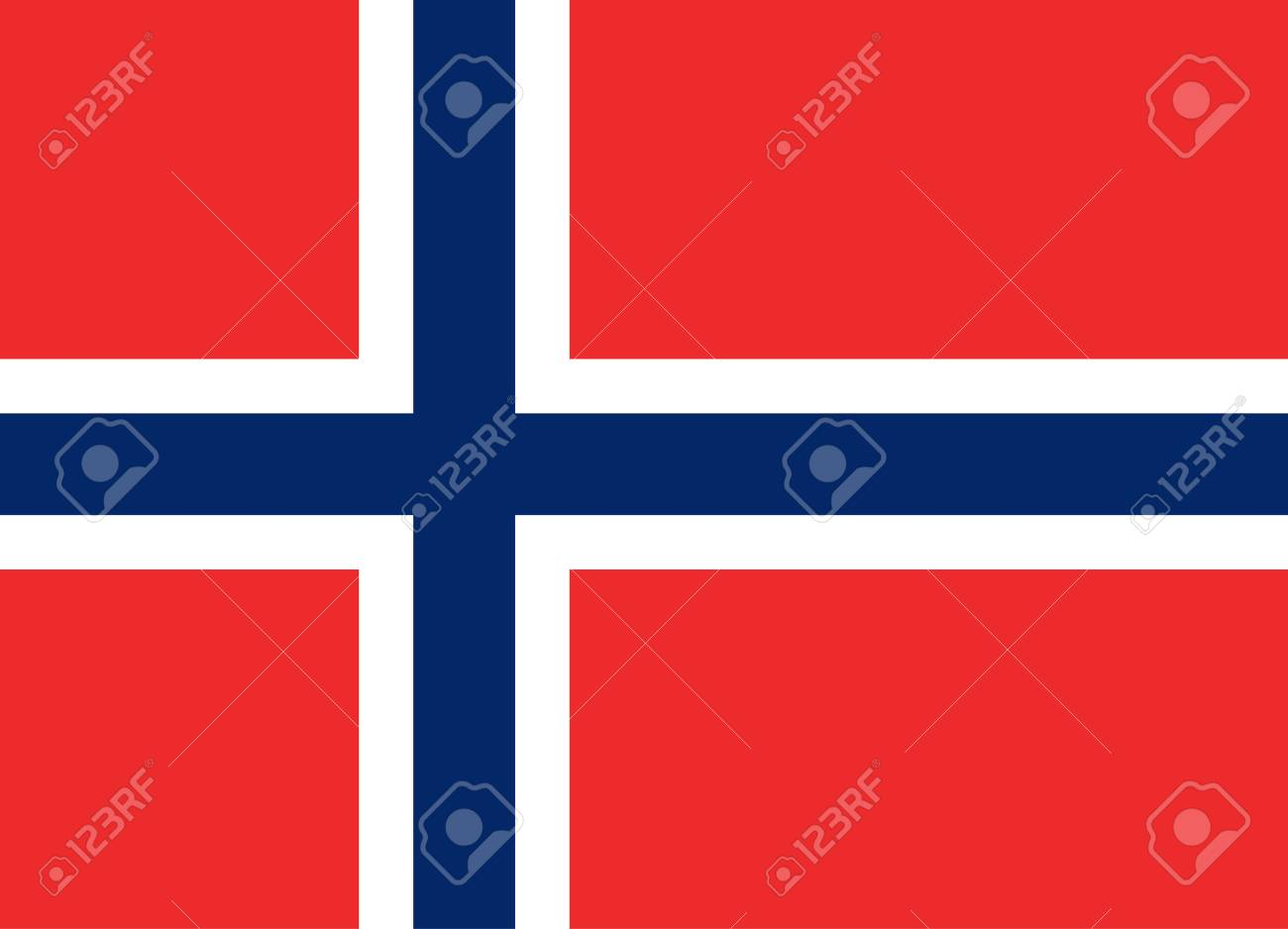 Official vector flag of Norway . Kingdom of Norway . - 68098407