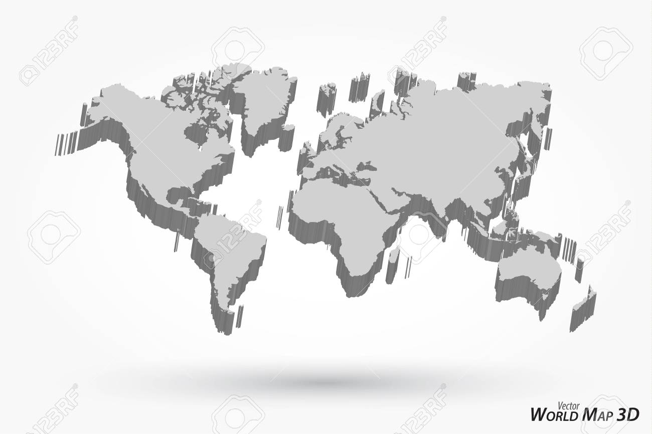 3d world map on gray background royalty free cliparts vectors 3d world map on gray background stock vector 79146360 gumiabroncs Image collections