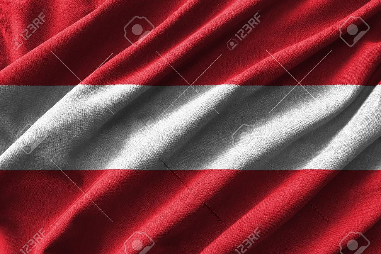 austria flag painting on high detail of wave cotton fabrics