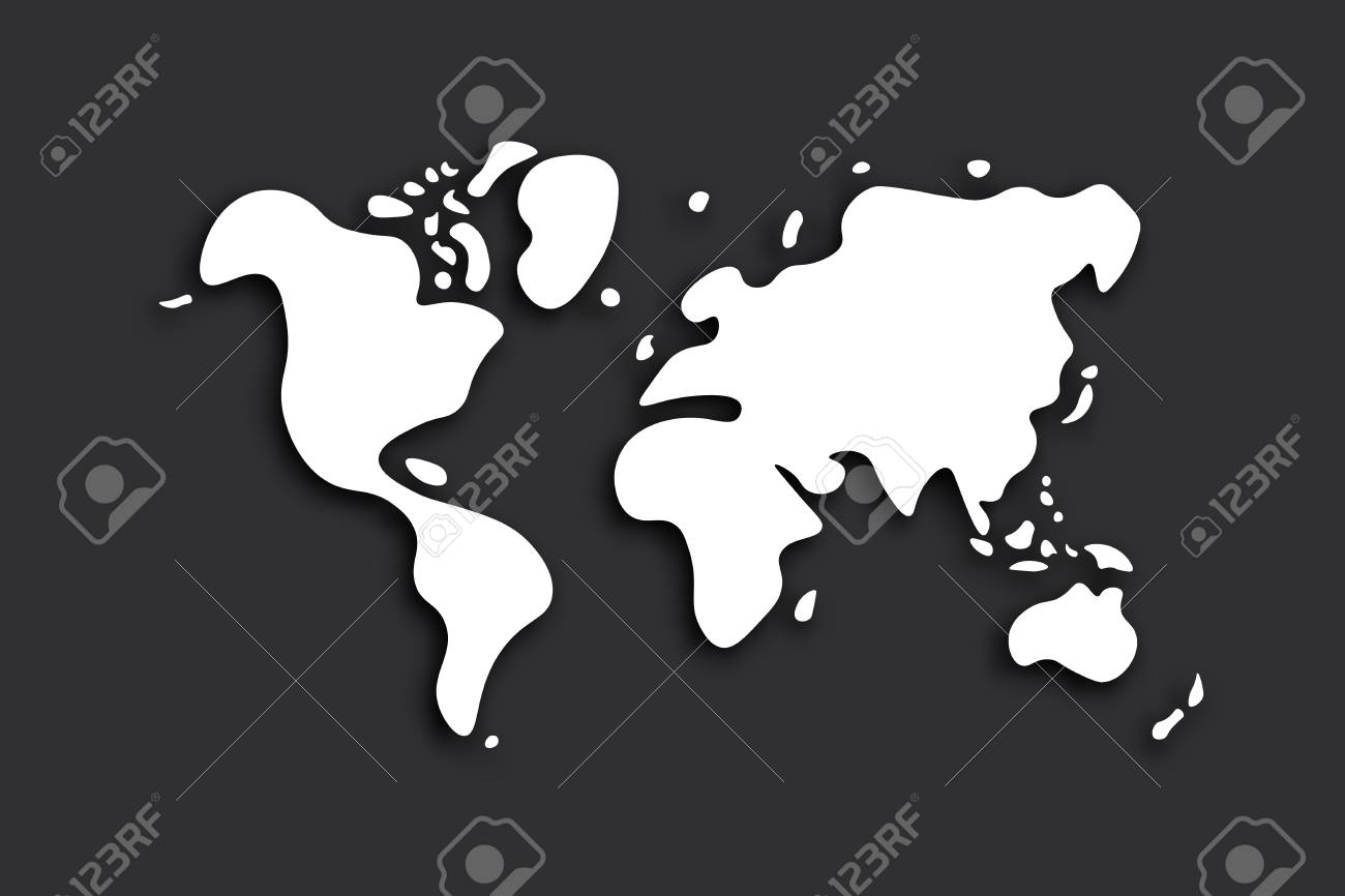 Doodle world map on black background vector royalty free doodle world map on black background vector stock vector 82595885 gumiabroncs Choice Image