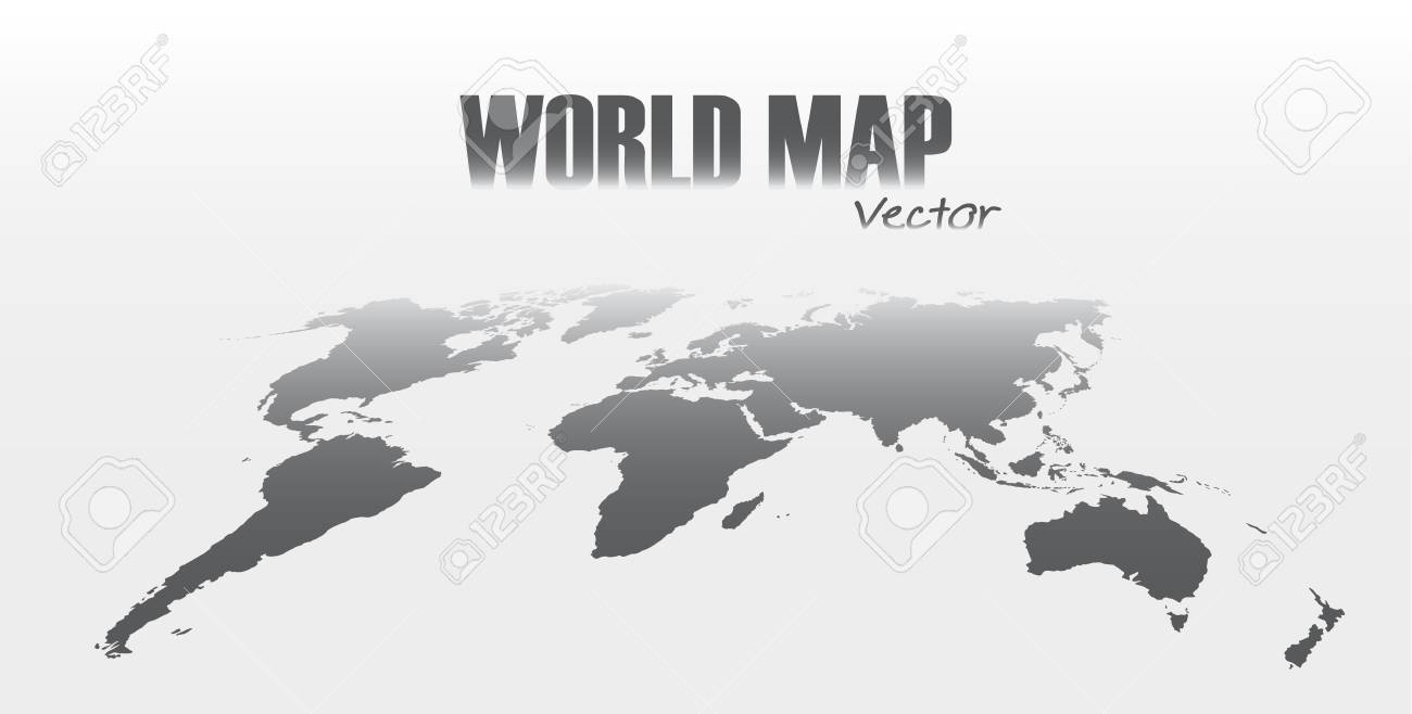 Perspective world map on gray background royalty free cliparts perspective world map on gray background stock vector 88311926 gumiabroncs Choice Image