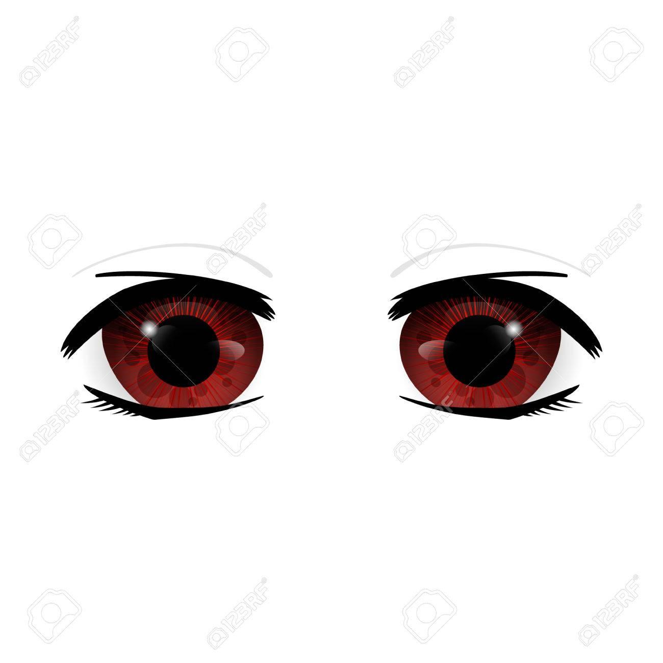 Anime Eyes Human Eyes Closeup Beautiful Big Cartoon Eyes Illustration Stock Photo Picture And Royalty Free Image Image 81800044
