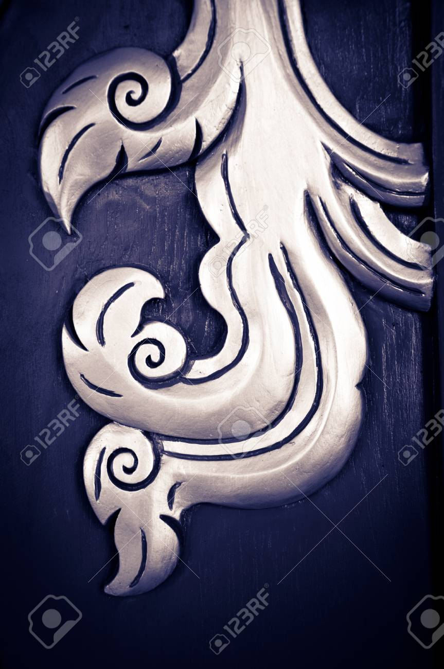 Thai style art carving with handmace. Stock Photo - 9949996