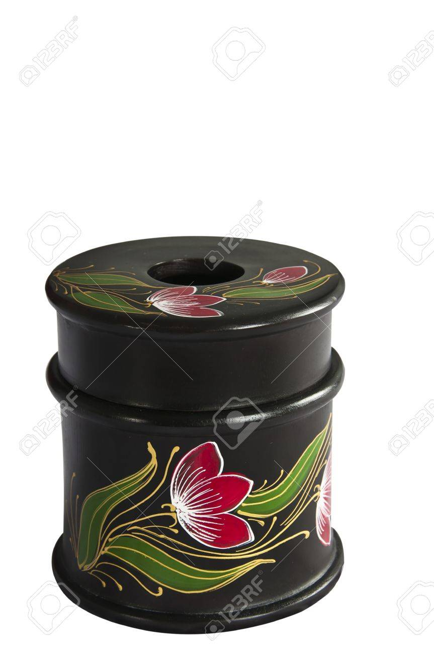 Thai style bamboo art  tissue box. Stock Photo - 11102069