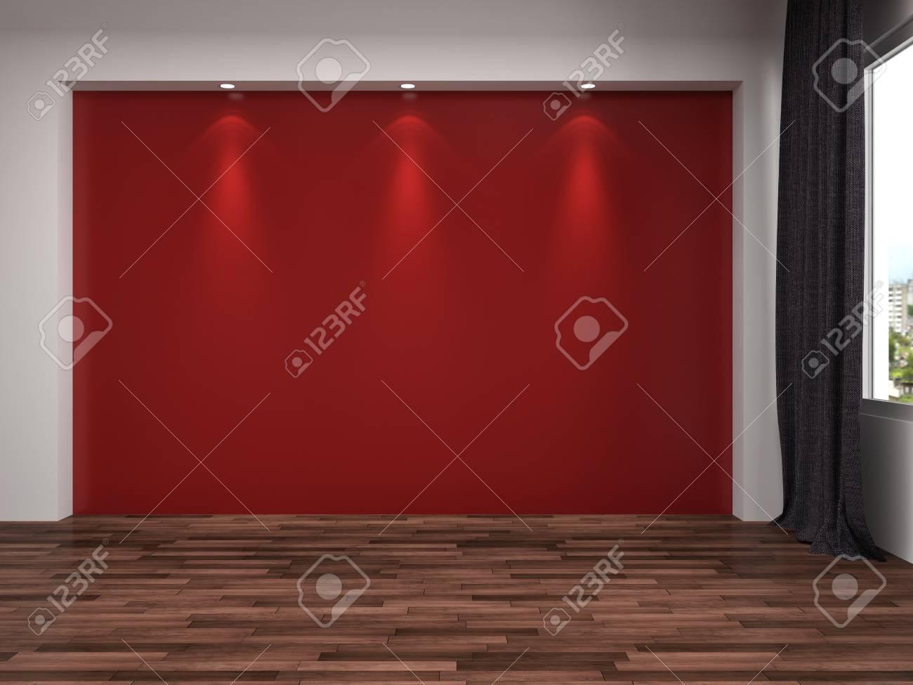 Interieur Mit Großem Fenster. 3D-Darstellung Lizenzfreie Fotos ...
