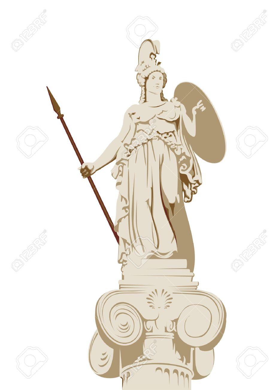 Statue Of The Greek Goddess Of Wisdom Athena