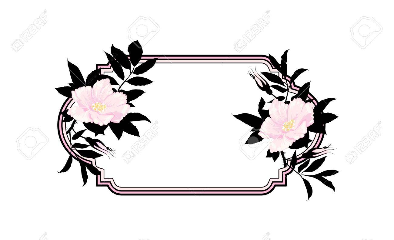 Vintage roses oval frame Stock Vector - 13920266