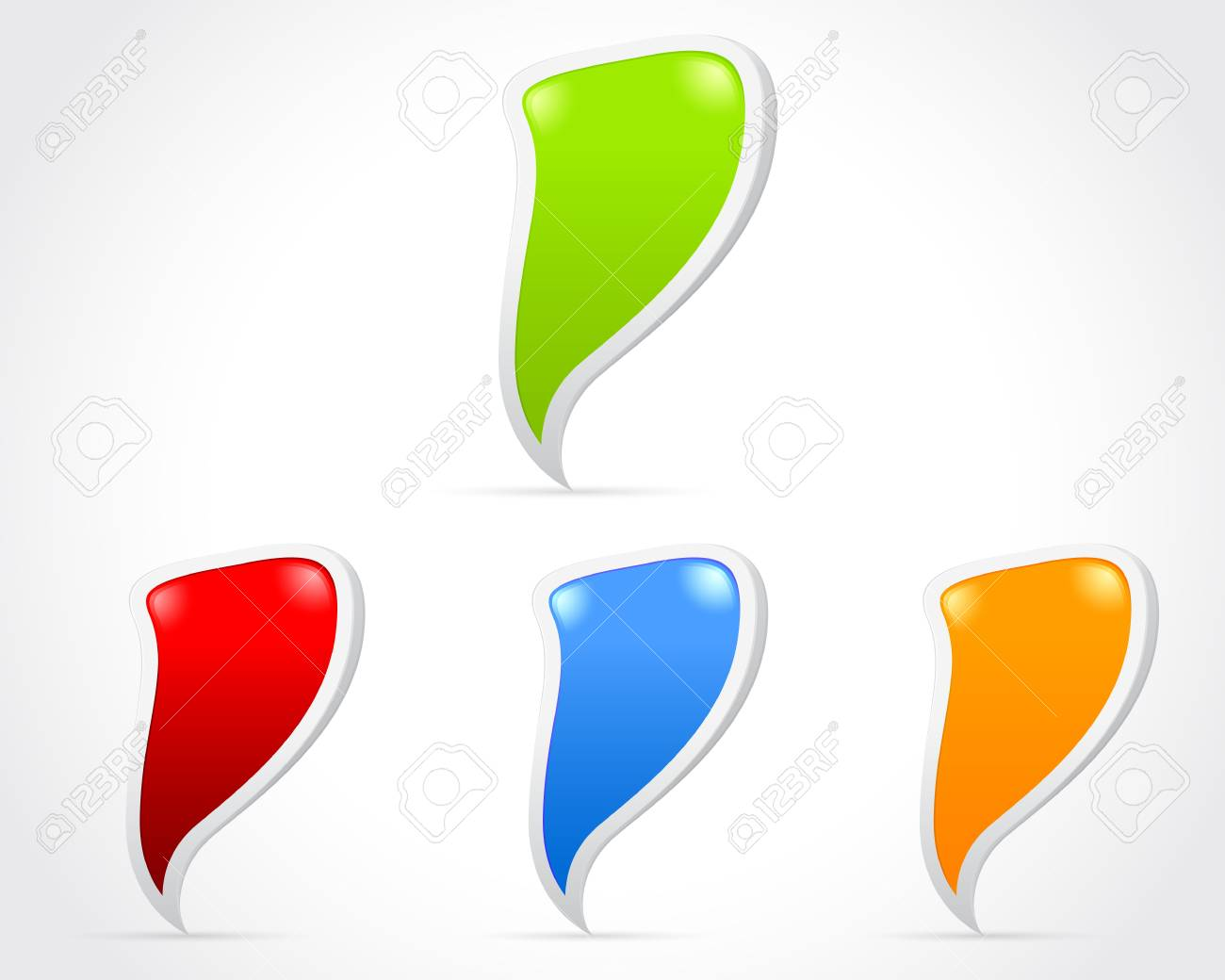 Design of messenger window icon  eps 10 Stock Vector - 13921065