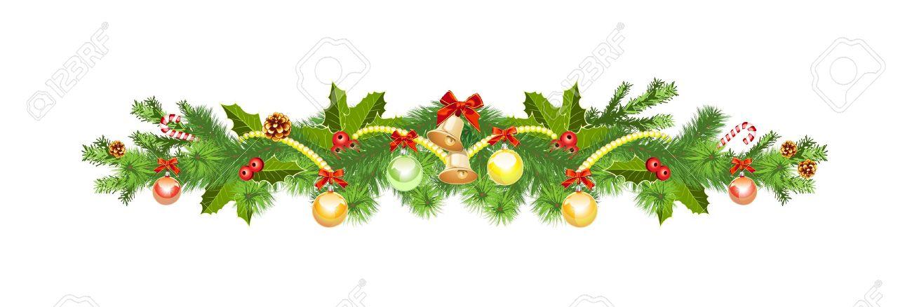 43,064 Christmas Garland Cliparts, Stock Vector And Royalty Free ...