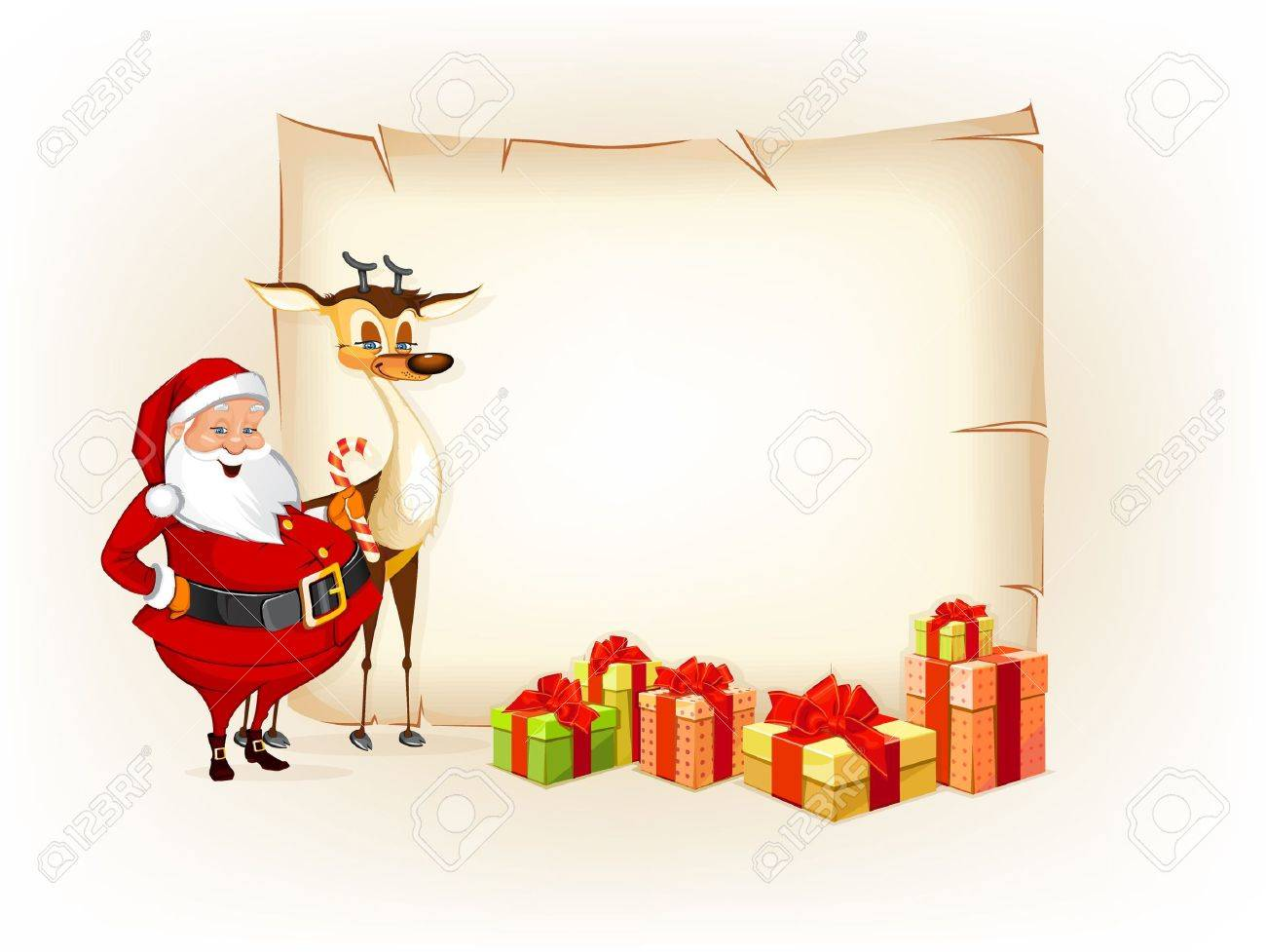 Christmas thematic parchment Stock Vector - 16712174