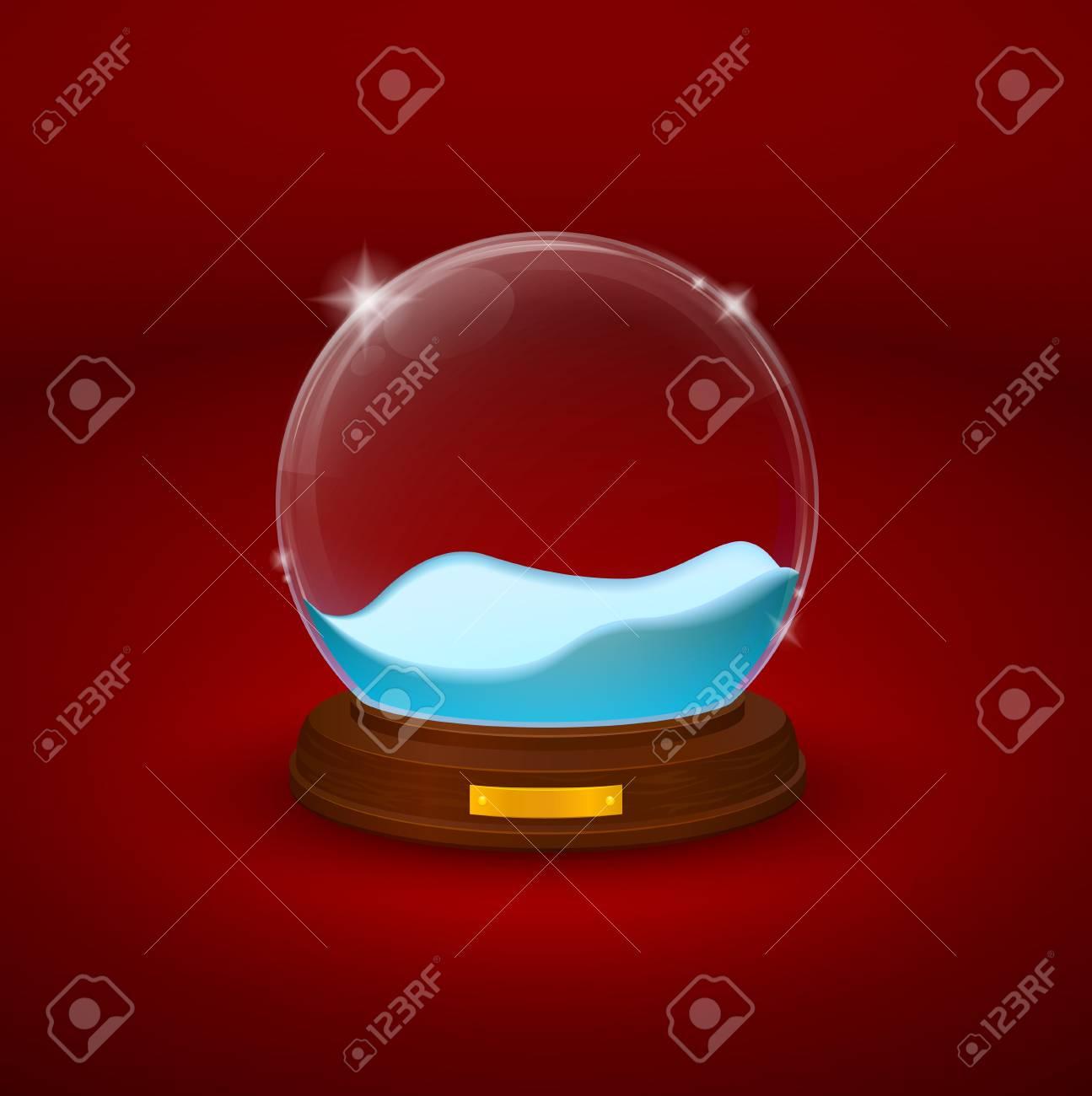 snow-dome or crystal ball Stock Vector - 16925827