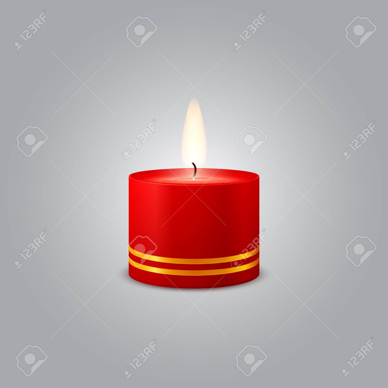 Red Christmas Candle Stock Vector - 16956630